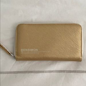 Bensimon Collection Gold Wallet NWOT